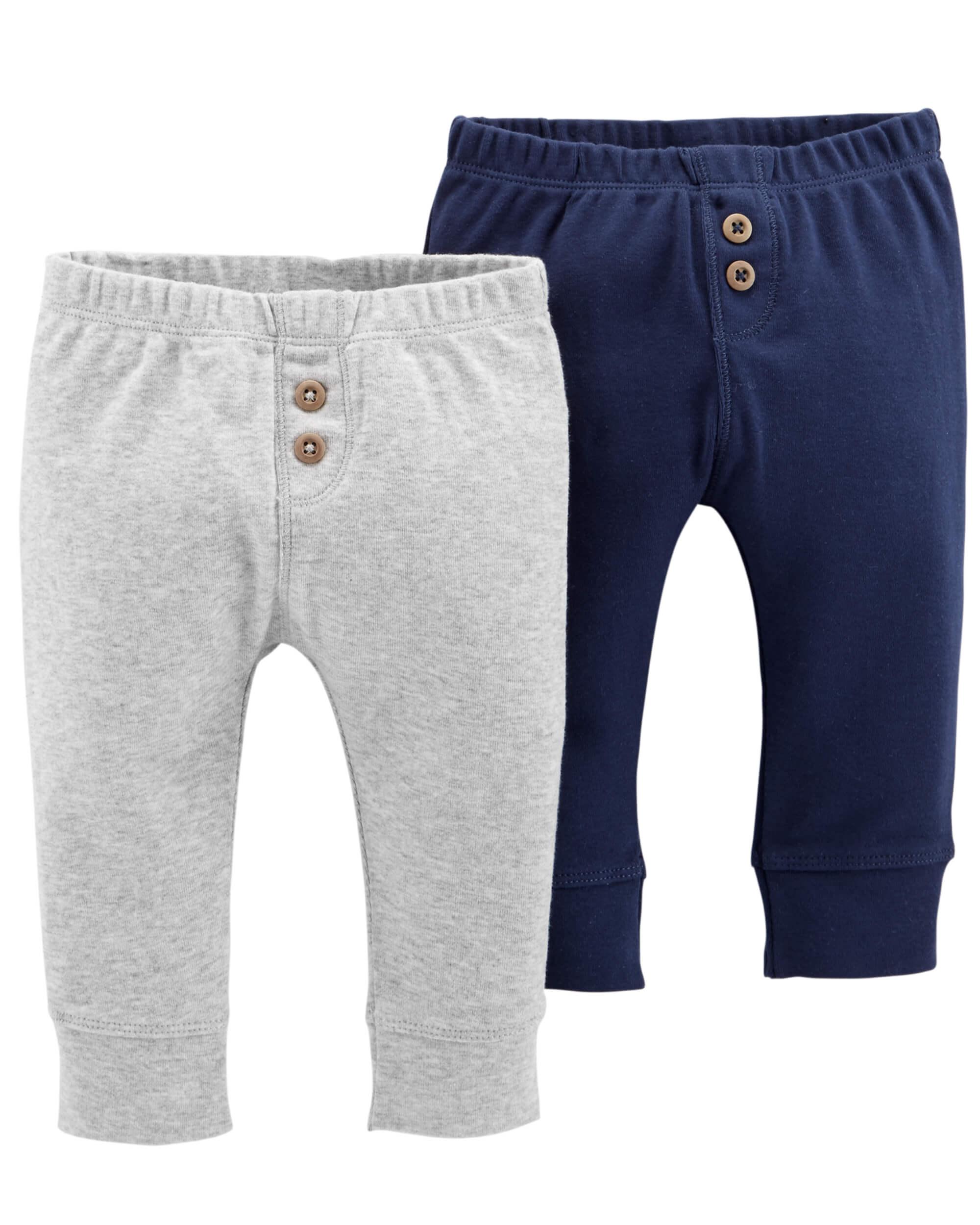 40f20732a0f Carter's Παντελόνι σετ των δύο τεμαχίων μπλέ και γκρί.